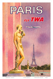 Paris, France - Fly TWA (Trans World Airlines) Prints by David Klein