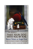Dog Rail Giclee Print by  Vintage Apple Collection