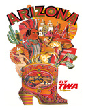 Arizona - Fly TWA (Trans World Airlines) Giclee Print by David Klein