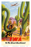 To the Great Southwest - Fly TWA Trans World Airlines Posters by Frank Soltesz