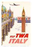 Italy - Fly TWA (Trans World Airlines) - Piazza San Marco (St. Mark Plaza) Posters by David Klein
