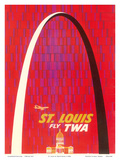 St. Louis, USA - Fly TWA (Trans World Airlines) - The Gateway Arch Monument Prints by David Klein