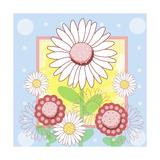 Pastel Daisies Giclee Print by Valarie Wade