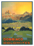 Toblach, Italy - Entrance to the Paradise of the Dolomites Prints by  Pacifica Island Art
