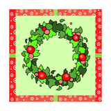 Wreath Green Giclee Print by Valarie Wade