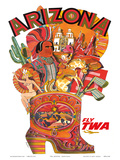 Arizona - Fly TWA (Trans World Airlines) Print by David Klein