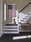 Dog on Stairs Photographic Print by Zhen-Huan Lu