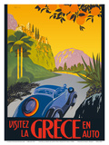 Visit Greece by Car -Automobile and Touring Club of Greece Plakater af Pacifica Island Art