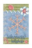 Seaside Snowflake Giclee Print by Valarie Wade