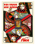 Las Vegas, Nevada - Fly TWA (Trans World Airlines) - Queen Playing Card Giclee Print by David Klein