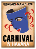 Cuba - Carnival in Havana - February, March 1941 Art by  Pacifica Island Art