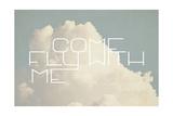 Ven a volar conmigo Lámina giclée por  Vintage Skies