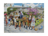 Petting the Horse Giclee Print by Trevor Mitchell