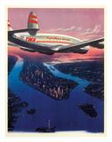Manhattan, New York USA - TWA (Trans World Airlines) Giclée-tryk af Frank Soltesz