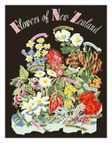 Flowers of New Zealand Giclée-tryk af Howard Mallitte