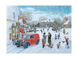A Village Christmas Giclee Print by Trevor Mitchell