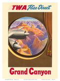 Grand Canyon, Arizona - TWA Flies Direct - Trans World Airlines Prints