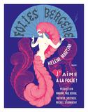 "Pacifica Island Art - Cabaret Music Hall - Paris, France - Helene Martini préeente ""J'Aime a La Folie!"" - Giclee Baskı"