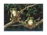 Frogs Giclee Print by Wanda Mumm