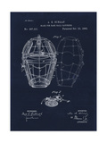Mask for Baseball Catcher Giclee Print by Tina Lavoie