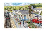 The Village Station Giclee Print by Trevor Mitchell