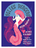 "Cabaret Music Hall - Paris, France - Helene Martini préeente ""J'Aime a La Folie!"" Posters by  Pacifica Island Art"