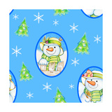Snowman Pattern 1 Giclee Print by Valarie Wade