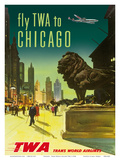 Chicago - TWA (Trans World Airlines) Affischer