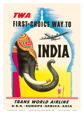 First Choice Way to India - TWA (Trans World Airlines) Poster by Frank Soltesz
