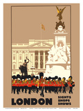 London - by London & North Eastern Railway (LNER) - Guards, Buckingham Palace Posters by Fred Taylor