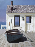 Blue Boat on Deck Photographic Print by Zhen-Huan Lu