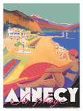 Annecy - La Plage (The Beach) - Lake Annecy, France - PLM Prints by  Pacifica Island Art