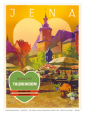 Jena, Germany - Besucht Thüringen (Visit Thuringia) - The Green Heart of Germany Posters by Jupp Wiertz