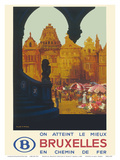 Bruxelles (Brussels) Belgium - Is Reached Best by Railway Prints by Frank H. Mason