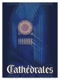 Cathedrals - Joyaux de L'art Français (Jewels of French Art) - SNCF Art by G. Bourdier