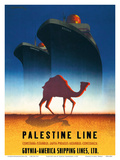Palestine Line - Gdynia-America Shipping Lines - Polish Ocean Liners SS Kosciuszko and SS Polonia Poster by Tadeusz Trepkowski