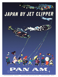 Japan by Jet Clipper - Pan American World Airways - Children's Day - Koinobori Posters by Aaron Fine