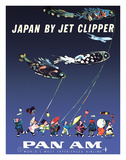 Japan by Jet Clipper - Pan American World Airways - Children's Day - Koinobori Giclee Print by Aaron Fine