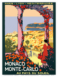Monaco, Monte-Carlo - Au pays du Soleil (Land of the Sun) - (PLM) Posters by  Pacifica Island Art