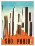 Sao Paulo - Brasil (Brazil) - Skyline Posters by C. Brunswick