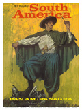 Jet 'Round South America - Pan American World Airways - PANAGRA-Pan American-Grace Airways Posters by  Pacifica Island Art