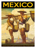 Mexico - National Railways of Mexico Print by  Pacifica Island Art