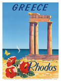 Greece - Rhodes - Monte Smith - Temple of Apollo (Acropolis of Rhodes) Posters by C. Neuria
