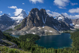 Mt. Assiniboine, Mount Magog and Sunburst Peak as Seen from the Nublet Photographic Print by Howie Garber