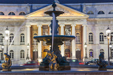 D. Maria II National Theatre, Rossio Square, Lisbon, Portugal Photographic Print by Peter Adams