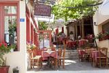 Cafe, Restaurant, Taverna, Plaka, Athens, Greece Fotografisk tryk af Peter Adams