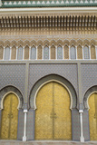 Fez, Morocco Royal Palace Famous Golden Doors Arches Der El Makhzen Photographic Print by Bill Bachmann