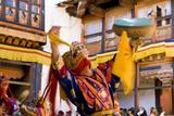 Dancers at Jakar Festival at Jakar Dzong, Bumthang, Bhutan Photographic Print by Howie Garber