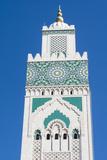 Casablanca, Morocco, Exterior Steeple Famous Hassan II Mosque Fotografie-Druck von Bill Bachmann