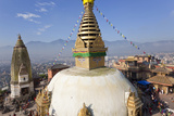 Swayamhunath Buddhist Stupa or Monkey Temple, Kathmandu, Nepal Photographic Print by Peter Adams
